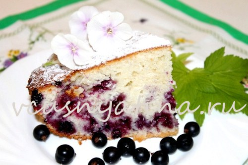 Пирог-манник, рецепт на кефире