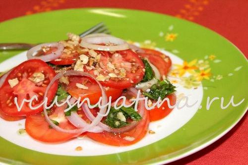 салат из свежих помидоров