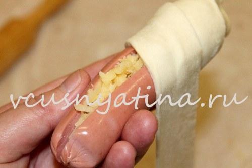 рецепт приготовления сосисок в тесте