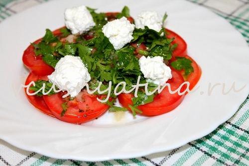 помидоры с брынзой