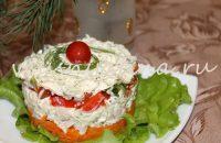 праздничный салат с курицей