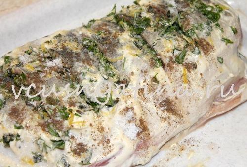 рецепт горбуши запеченной в фольге