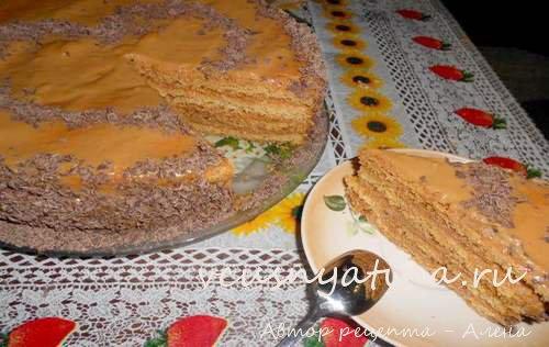 бисквитный торт со сгущенкой