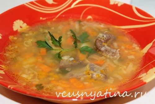 суп с тыквой и маком