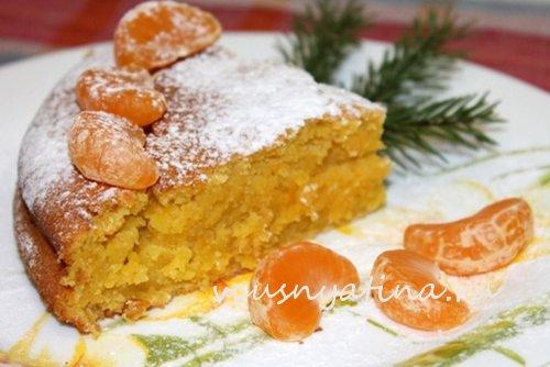 рецепт пирога из мандаринов