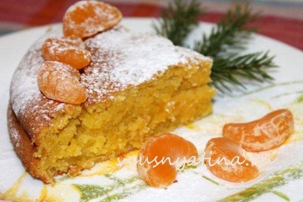 Простой пирог с мандаринами