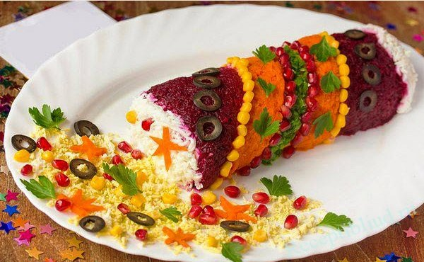 Простые праздничные салаты изоражения