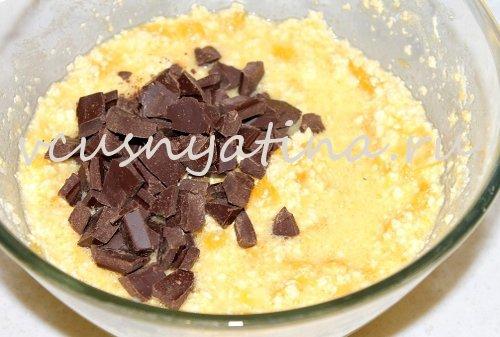 Воздушные кексы с кусочками апельсина и темного шоколада
