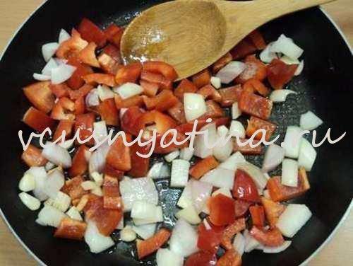 как потушить горбушу с овощами