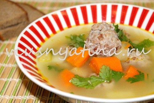 суп с тефтельками