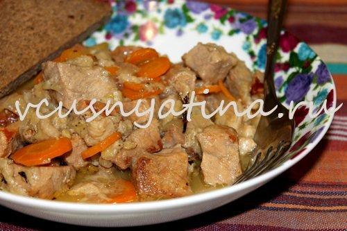 тушеное мясо рецепт