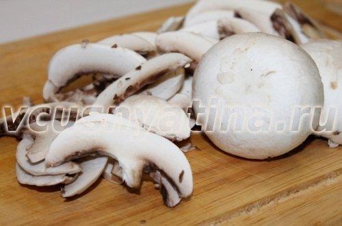 постный плов с грибами шампиньонами