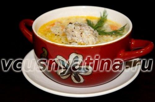 суп рисовый с фрикадельками рецепт