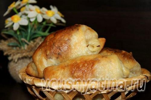 Постные пирожки с квашеной капустой