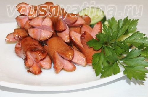 жареные сосиски
