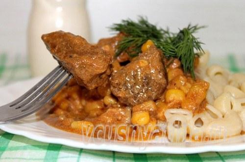 мясо тушеное в соусе