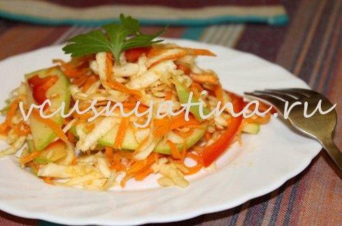 Салат из корня сельдерея с яблоком