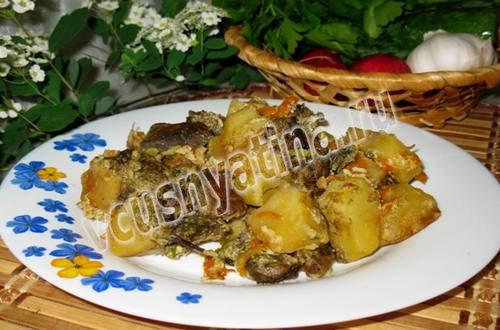 Мясо с картошкой в сметане в мультиварке
