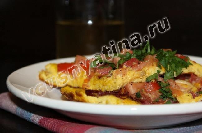 Фритатта с помидорами и колбасой рецепт