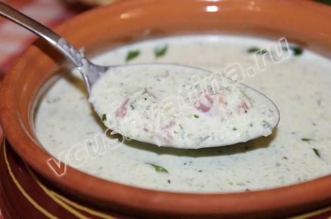 Холодный летний суп рецепт с фото