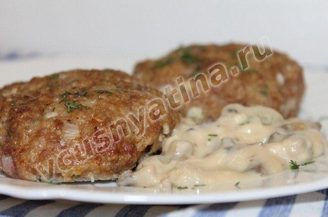 Бифштекс из фарша с грибами рецепт в духовке
