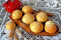Рецепт домашних булочек с кунжутом