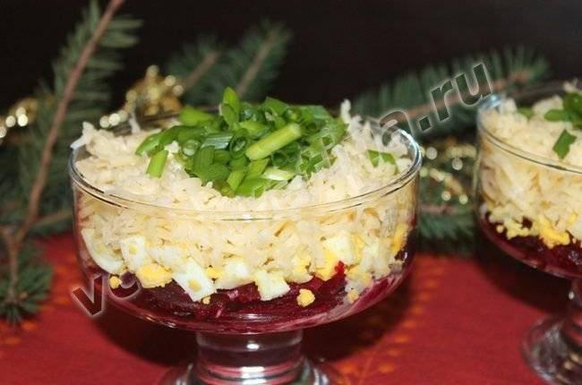 Салат со свеклой и сыром фото рецепт