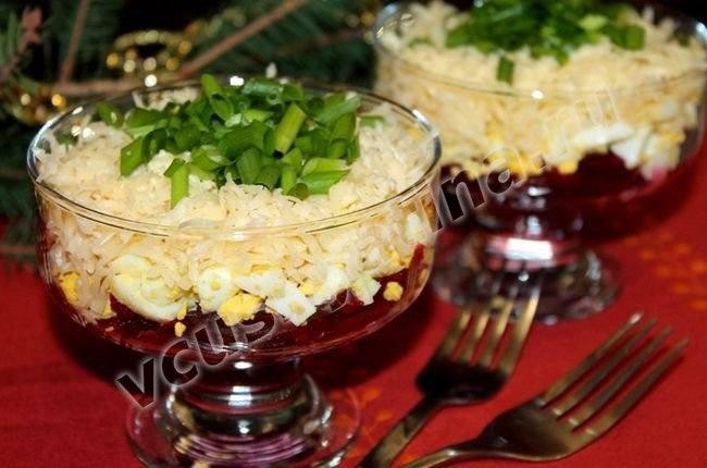 Свекольный салат с сыром