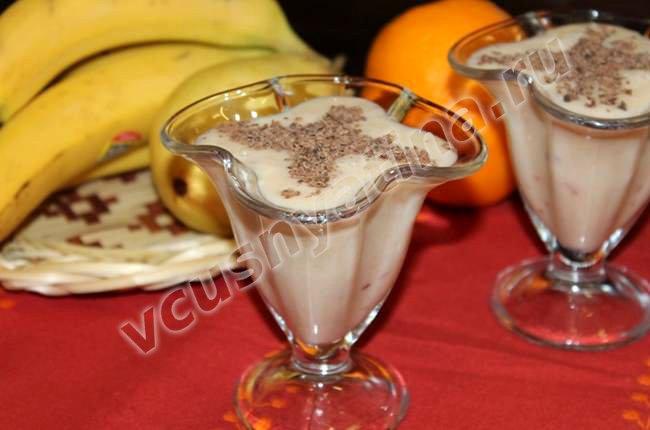 Варианты бананового коктейля с мороженым