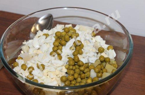 оливье с рыбой
