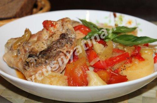 рецепт куриных бедрышек с овощами