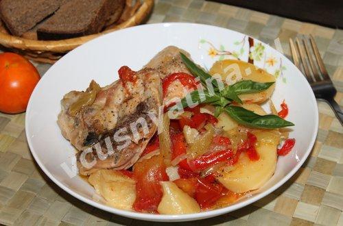 куриные бедрышки с овощами рецепт