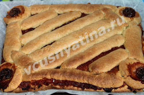 Домашнее песочное печенье с вареньем