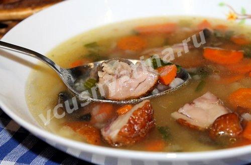 суп с грибами и курицей рецепт с фото