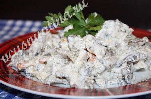 Вешенки с овощами в сметане, рецепт