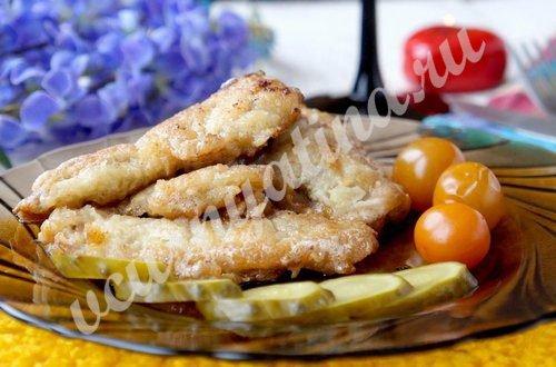 Жареная печень щуки «Нежная»
