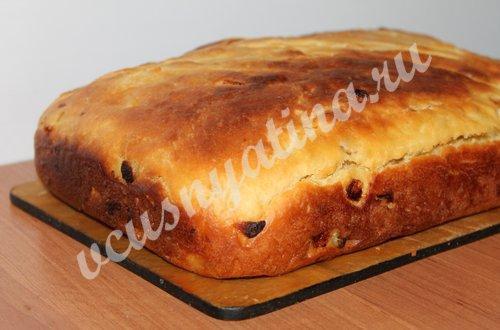 рецепт лукового хлеба