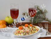 овощной салат с яблоком