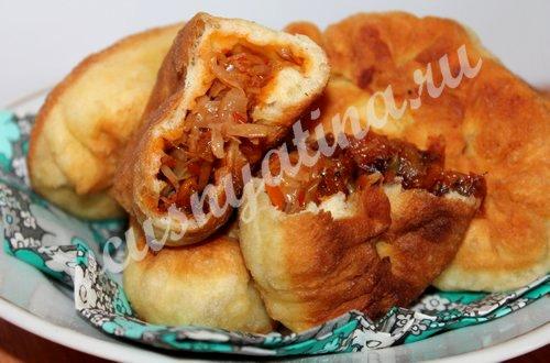 Жареные пирожки с капустой «Быстрые»