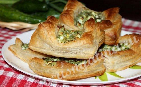 Ленивые пирожки  с яйцом и зеленью