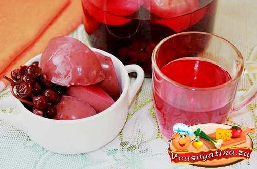 Ароматный яблочно-виноградный компот на зиму