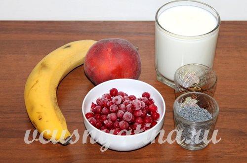 ингредиенты для смузи со смородиной