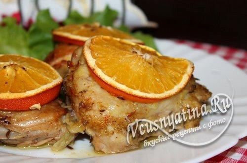 Куриные бедрышки с апельсинами – безумно вкусно