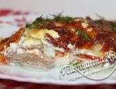 Мясо по-французски с картошкой и помидорами в духовке, рецепт с фото
