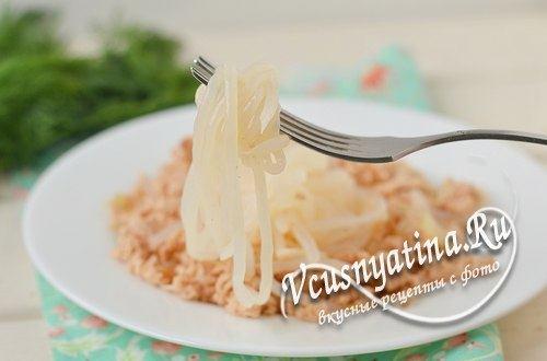 Как приготовить спагетти ширатаки по-флотски