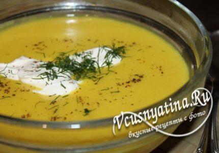 Суп-пюре из кабачков - рецепт с фото по шагам