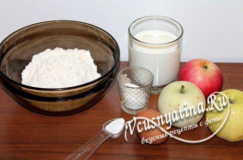 Ингредиенты для яблочных оладий
