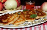 Яблочные оладьи на кефире – пошаговый рецепт с фото