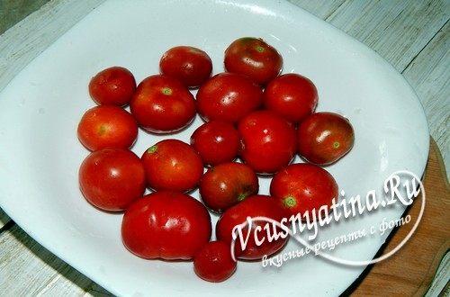 Подготовить помидоры черри