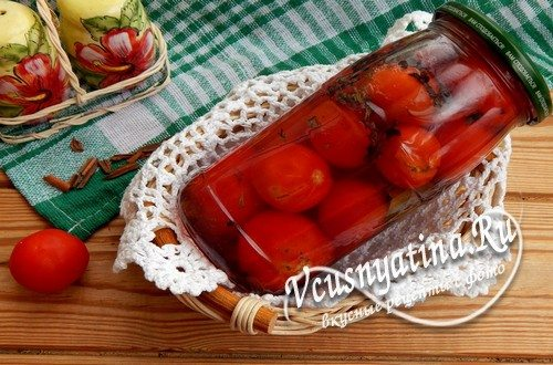 Черри маринованные с корицей – рецепт на зиму